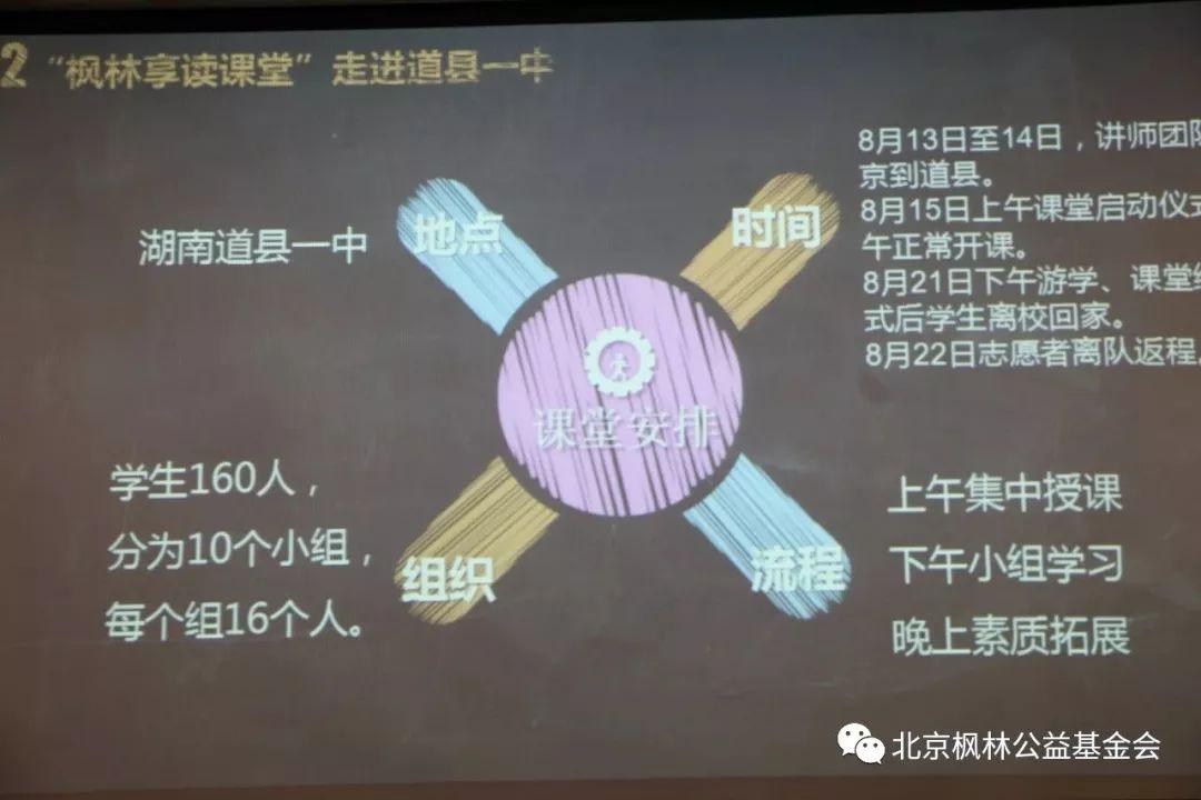 """""""枫林享读课堂""""走进道县一中动员大会"""